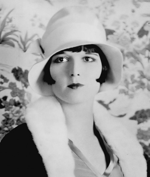 Louise Brooks popularized the bob haircut and starred in several silent films in her heyday.