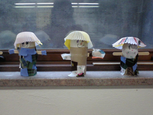1st grade scarecrows, the kids loved making these!