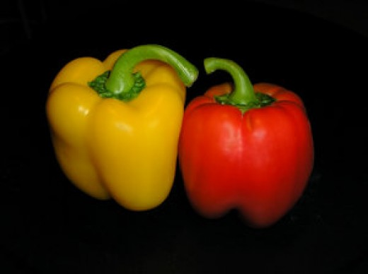 Peppers are healthy and sweet