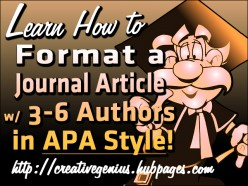 APA Format for Journal Article with Three to Six Authors
