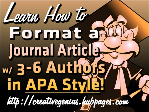 Citing, referencing and formatting references in APA style
