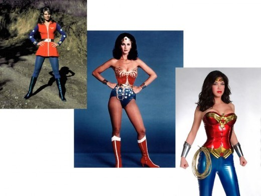 Cathy Lee Crosby, Lynda Carter, Adrianne Palicki as Wonder Woman