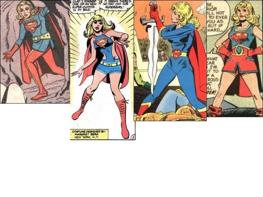 Different Supergirl Costumes from the 70s