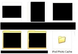 """Click """"iPod Photo Cache."""""""