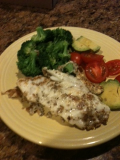 Fish and vegetables low calorie and delicious