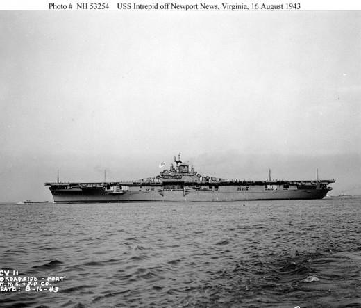 Off Newport News, Virginia, August 16, 1943