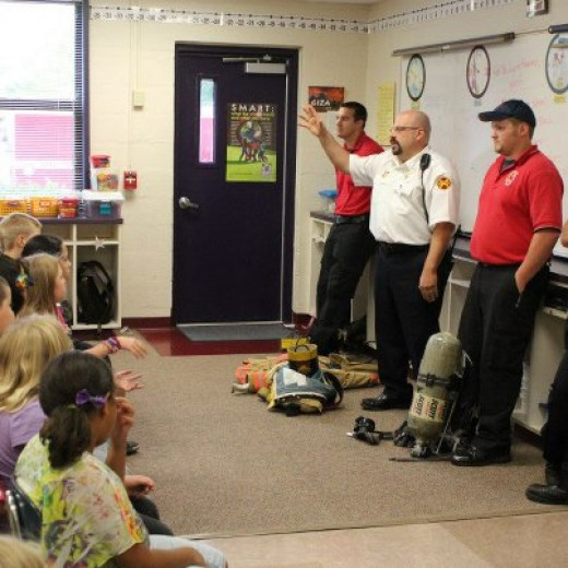 Trips to a school allow firefighters long term recruiting as well as a means to give back to the community