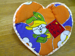 How to Sew Heart Shaped Pot Holder