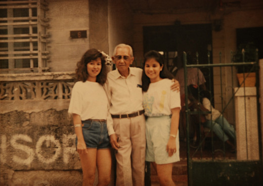 In this photo: Me, my grandpa Vicente and cousin Mye