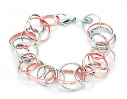A bracelet with a lot of links you can add charms to.