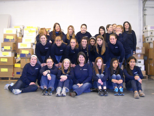 Acteens girls missions group, 2011-2012