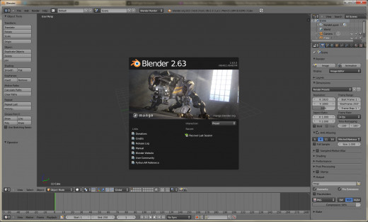 The Blender Interface is unique, but very well suited to the needs of 3D computer graphics.
