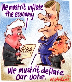 RBA must not inflate economy..    We must not deflate our vote..    Funny toons.