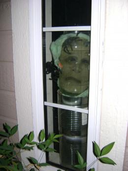 Mask in a jar close up