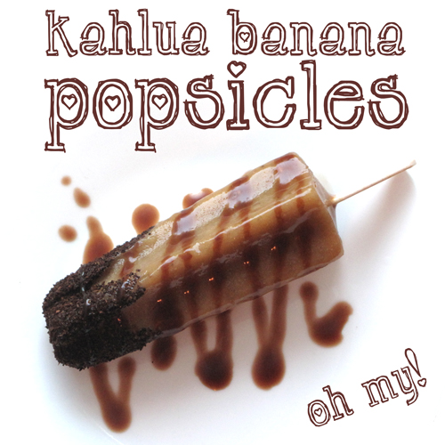 Love Kahlua? Why not try it in a popsicle? Click to see my very own invention - these delicious Kahlua Banana Popsicles (made with my homemade kahlua, of course!)