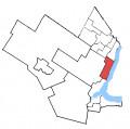 Map location of Oakville Riding, Ontario