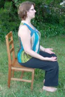 Sitting on a chair can be done if that is what is most comfortable for you to be in a meditative mood.