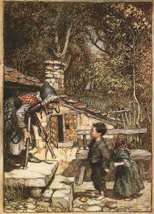 "Illustration from ""Hansel and Gretel."""