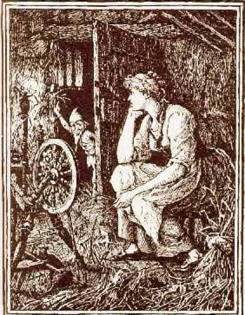"""Illustration from """"Rumpelstiltskin."""""""