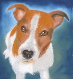 Archie in pastels showing the use of complementary colours.