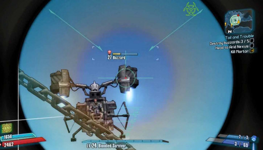 Borderlands 2 Destroy Buzzards At Inferno Tower
