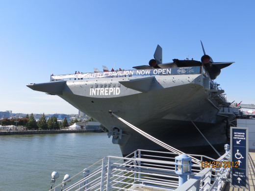 Closer view of the Intrepid