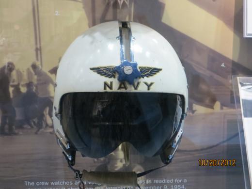 A pilot's  helmet
