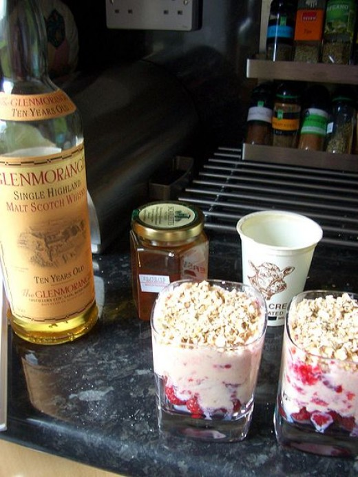 Cranachan can be made with more or less alchohol - it depends on you and your guests!