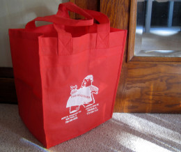 Reusable shopping bags are readily available at many retail outlets.