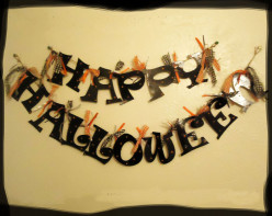 Happy Halloween Garland from Cereal Boxes- Tutorial
