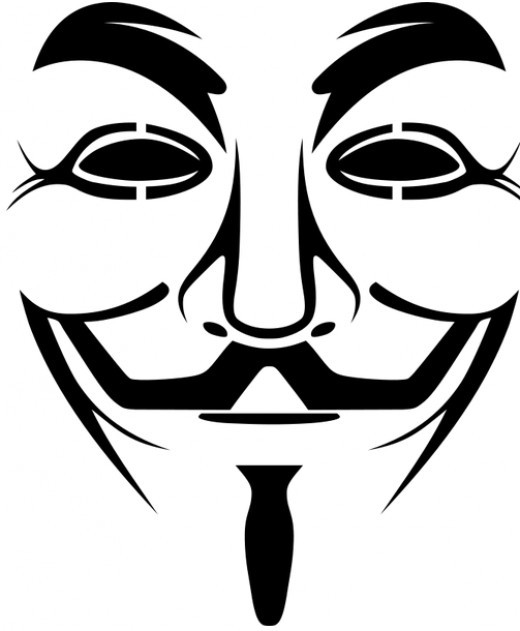 Guy Fawkes Template Mask