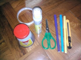 white glue, markers, the usual stationaries