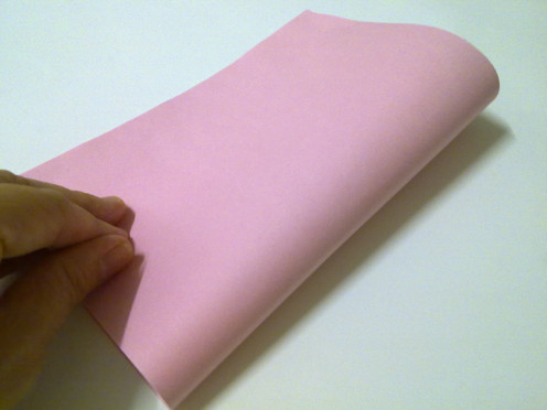 Fold ink paper into half