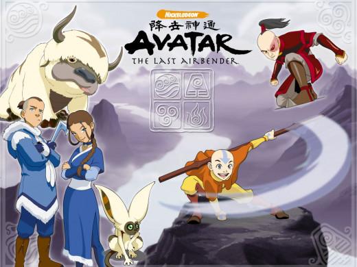 Aang, Katara, Sokka, and Zuko