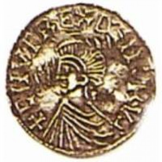 Coin of Knut issued by one of his English mints