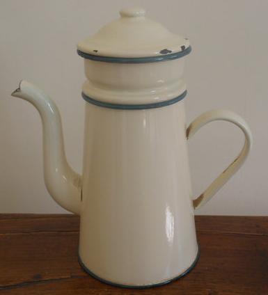 Vintage enamel coffee maker.