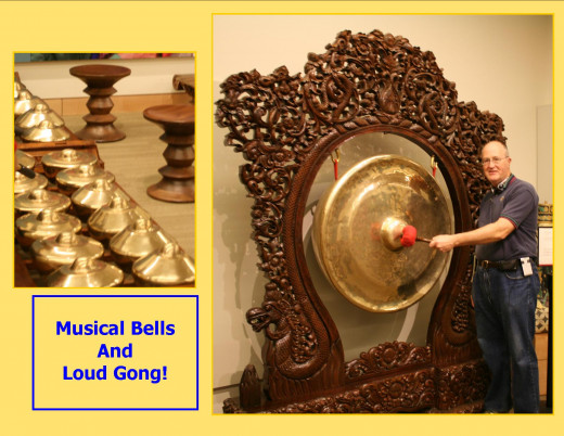 Play the Indonesian Bells or bang a gong!