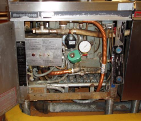 Elementary school HVAC system with pH meter.