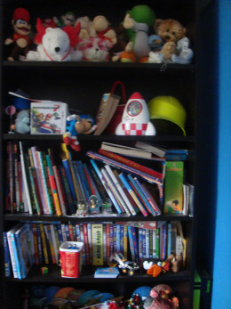 untidy shelves