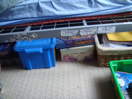 find space for your storage boxes
