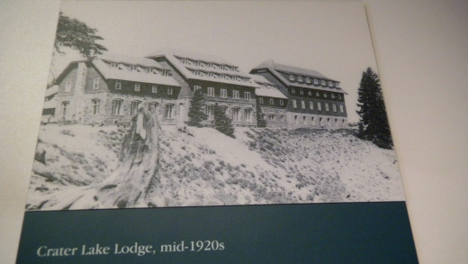 View this and more photos detailing the history of Crater Lake Lodge in the History Room just off the main lobby.  Fascinating historical exhibit.
