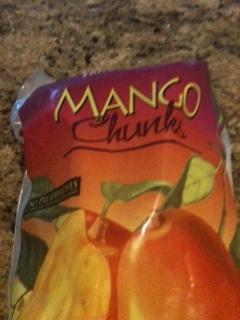 Add mango chunks to the salad