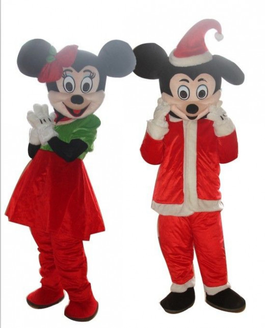 Mickey Minnie Mouse Christmas Costumes