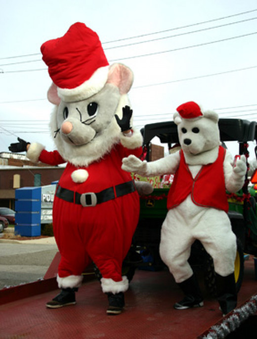 Giant Mouse and Bear Costume