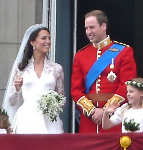 The Duke and Duchess of Cambridge on their wedding day. This wedding gave hope to little girls everywhere who have always dreamed of becoming a princess.