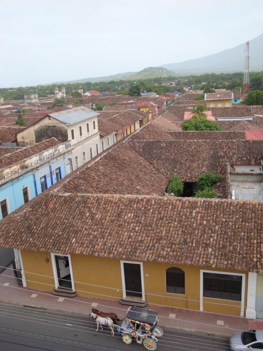 A view south from the Iglesia de la Merced steeple.