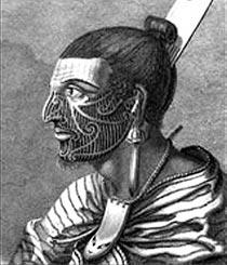 Maori Man With His Tattoo's