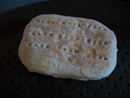 Some baked and dry hardtack.
