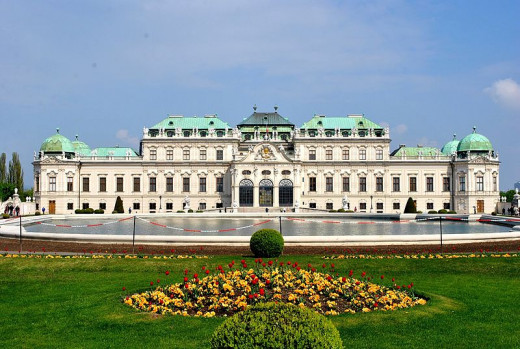 This photograph of a summer view of Belvedere Palace in Vienna, Austria was taken by Ignaz Wiradi on September 24, 2011.