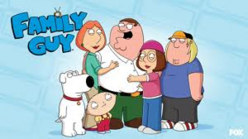 Family Guy is a hilarious cartoon about the Griffin family written by Seth McFarland. The Griffins are: Peter, Louis, Meg, Chris, Stewie and Brian.